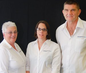 Left to right: Sue Healey, Louise Cooper, Peter Healey of Mastercraft Kitchens Palmerston North