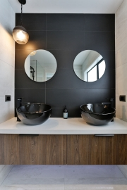 Bring interest into your bathroom with shapes