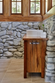 Solid timber bathroom cabinets