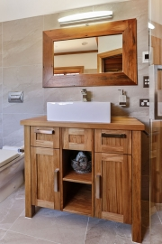 Bespoke solid timber bathroom cabinets