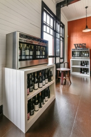 Wine shelves and dispensing machines