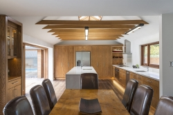 Expansive timber kitchen