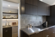 Brick pattern splashback
