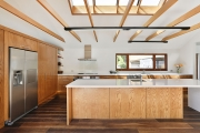 Timber and white kitchen