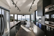 This kitchen is positioned to make the most of the views