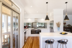 G shaped renovated kitchen
