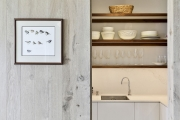 Scullery with open shelves
