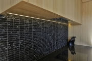 Black tile splashback