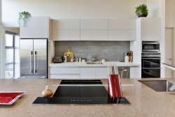 Induction stove on island benchtop