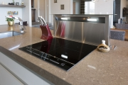 Extractor for induction stove comes up out of bench
