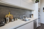 Concrete look splashback