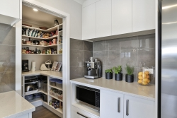 Benchtop for small appliances next to scullery