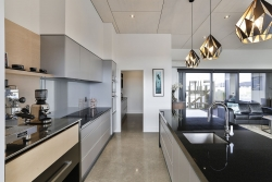 Kitchen and walk through to scullery