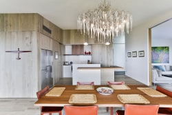 Kitchen cabinetry designed to look built-in
