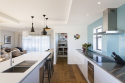 Large galley kitchen with scullery