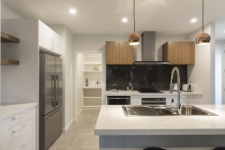 White kitchen with scullery