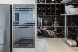 Wine rack and shelves