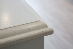 Detailed kitchen bench edges