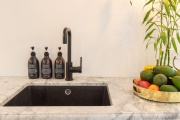 Black undermount sink