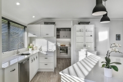 White kitchen and scullery
