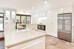 Large white country kitchen