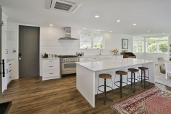 White and timber country kitchen
