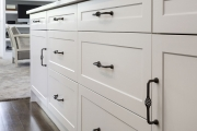 Shaker style cabinets with iron handles