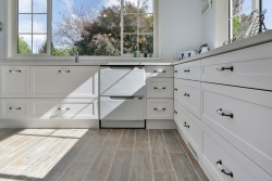 White dish drawers