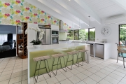 Brightly coloured kitchen