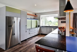 Hide your on-bench appliances behind sliding doors