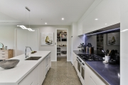 Scullery beyond the kitchen