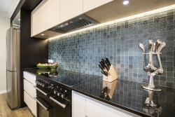 Grey small splashback tiles