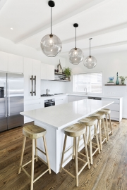 White kitchen with clean lines