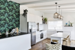 Balinese inspired minimalist kitchen