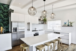 Uncluttered kitchen island