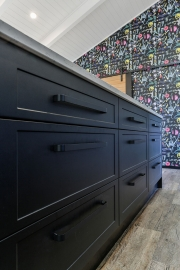 Black cabinetry and handles