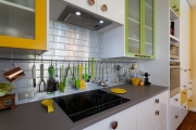 Green and yellow kitchen decor