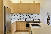 Overhead timber cabinets