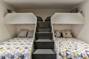 Steps to top bunk