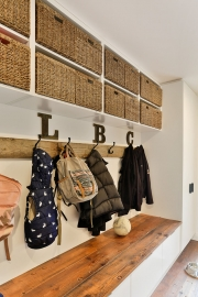 Boot room and laundry with bench seat