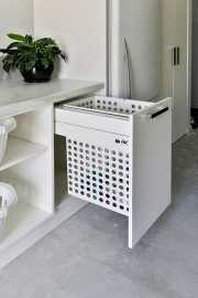 Laundry hamper pull-out