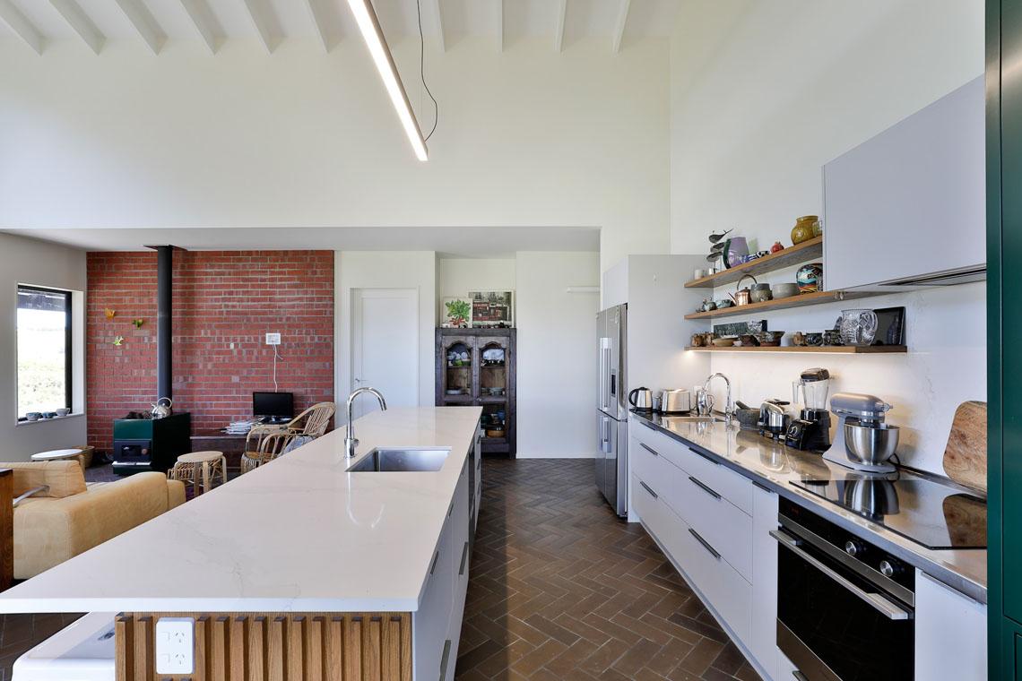 Galley Kitchen - White & Wood