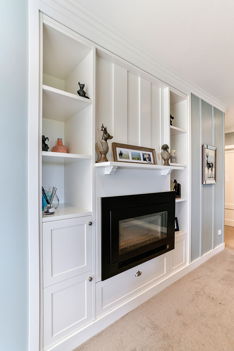 country style recessed shelves