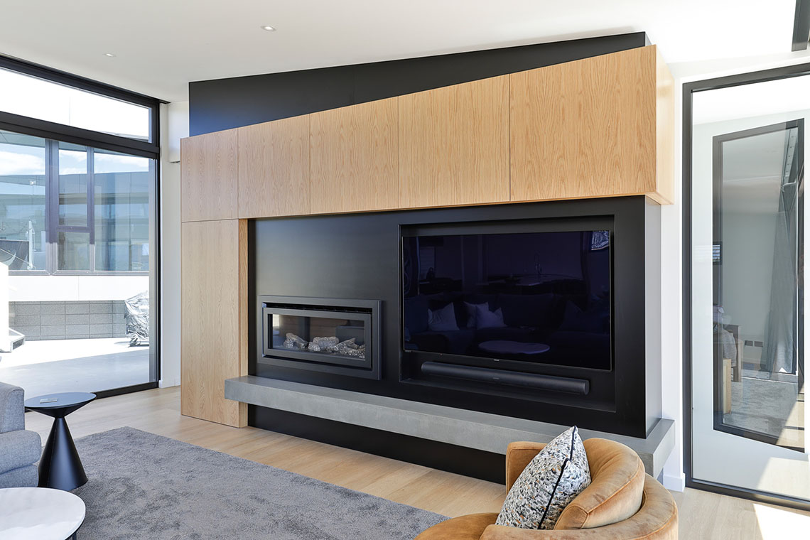 Black & Wood Feature Wall