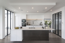 White and timber minimalist kitchen