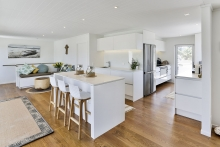 Compact white kitchen