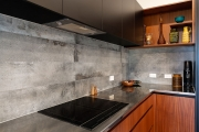 Industrial look concrete-look tiles