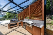 Cedar Louvre Outdoor kitchen
