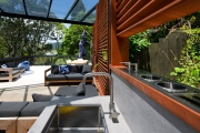 Dekton outdoor kitchen bench