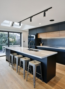 Making a black kitchen light and airy